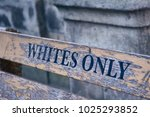 white only bench in cape town   Shutterstock . vector #1025293852