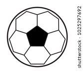 soccer ball icon vector template | Shutterstock .eps vector #1025297692