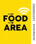 food area sign template.... | Shutterstock .eps vector #1025300002