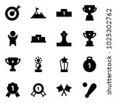 solid vector icon set   target... | Shutterstock .eps vector #1025302762