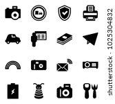solid vector icon set   camera...   Shutterstock .eps vector #1025304832