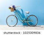 side view of bicycle with... | Shutterstock . vector #1025309836