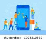 vector illustration in trendy... | Shutterstock .eps vector #1025310592
