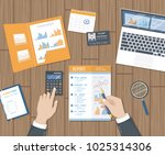 accounting  research  planning  ... | Shutterstock .eps vector #1025314306