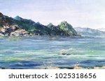 beautiful view of sea coast...   Shutterstock . vector #1025318656