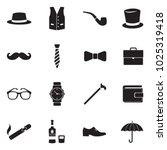 gentleman icons. black flat...   Shutterstock .eps vector #1025319418
