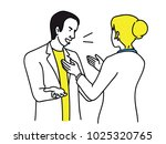 businesswoman try to calm down... | Shutterstock .eps vector #1025320765