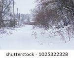 winter driving problems  snow... | Shutterstock . vector #1025322328