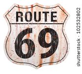 grungy and rusted route sixty... | Shutterstock .eps vector #102532802