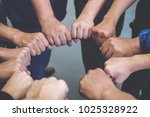 closeup image of many people... | Shutterstock . vector #1025328922