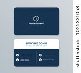 clean and modern business card... | Shutterstock .eps vector #1025331058