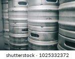craft beer brewing equipment in ... | Shutterstock . vector #1025332372