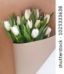 greeting card with tulips.... | Shutterstock . vector #1025333638