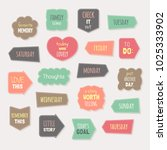vector set of journaling cards  ... | Shutterstock .eps vector #1025333902