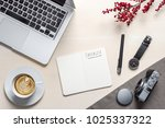 checklist writing in open... | Shutterstock . vector #1025337322