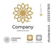 countour beauty flower logo.... | Shutterstock .eps vector #1025337805