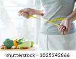 eat good food for good shape... | Shutterstock . vector #1025342866