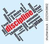 word cloud discipline  creative ...   Shutterstock .eps vector #1025343802