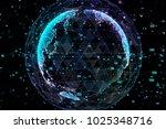 earth  representing global... | Shutterstock . vector #1025348716