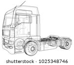 commercial delivery cargo truck ... | Shutterstock .eps vector #1025348746