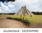 chichen itza  mexico   january... | Shutterstock . vector #1025349082