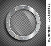 round window porthole on... | Shutterstock .eps vector #1025355616