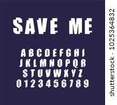save me font. decorative... | Shutterstock .eps vector #1025364832