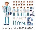 doctor man character... | Shutterstock . vector #1025368906