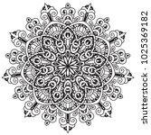 black and white mandala vector... | Shutterstock .eps vector #1025369182