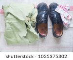recycling material  old clothes ... | Shutterstock . vector #1025375302