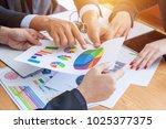 business team corporate... | Shutterstock . vector #1025377375