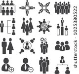 population meeting icon ... | Shutterstock .eps vector #1025380522