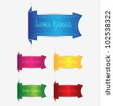 colorful web labels banners | Shutterstock .eps vector #102538322