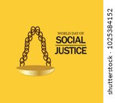 world day of social justice... | Shutterstock .eps vector #1025384152