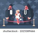 elegant blonde lady famous star ... | Shutterstock .eps vector #1025389666