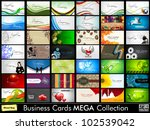 mega collection of 42 abstract... | Shutterstock .eps vector #102539042