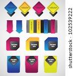 stylized web elements   Shutterstock .eps vector #102539222