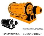 raw material ball mill ... | Shutterstock .eps vector #1025401882