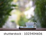 white cup and diary note | Shutterstock . vector #1025404606