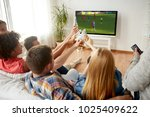 football  leisure and people...   Shutterstock . vector #1025409622