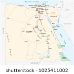 roads vector map of the arab... | Shutterstock .eps vector #1025411002