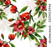 watercolor illustration of a... | Shutterstock . vector #1025415946
