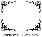 simple black tattoo ornamental ... | Shutterstock . vector #1025416492
