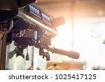 close up  coffee machine with... | Shutterstock . vector #1025417125