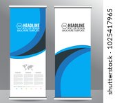 roll up business brochure flyer ... | Shutterstock .eps vector #1025417965