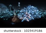businessman using digital x ray ...   Shutterstock . vector #1025419186