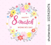 woman s day typography   hand... | Shutterstock .eps vector #1025420476