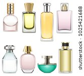 vector perfume icons set 3... | Shutterstock .eps vector #1025421688
