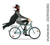 a strange bearded wanderer in a ... | Shutterstock .eps vector #1025426302