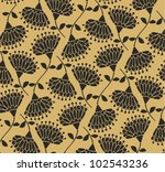 luxury daisy gold pattern | Shutterstock .eps vector #102543236